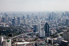 Skyscrapers Bird S Eye View Bangkok, Thailand Stock Photos