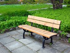 Free Bench In Park Royalty Free Stock Photography - 19577947