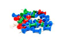 Free Colorful Plastic Push Pins Stock Image - 19578381