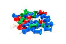 Free Colorful Plastic Push Pins Stock Image - 19578381