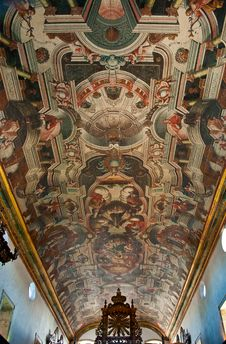 Free Ceiling Of Old Church In Brazil Stock Images - 19578484