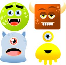 Free Set Of Monsters Stock Photo - 19578620