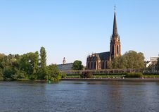 Free Frankfurt Dreikoenigskirche Royalty Free Stock Photography - 19578777