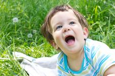 Free Funny Baby Royalty Free Stock Photos - 19579038