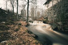 Free Spring Flood Running Past Old Smeltery Stock Photography - 19579502
