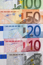 Free Row Of Euro Bills Royalty Free Stock Images - 19583809