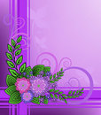 Free Lilac Flowers On A Checkered Background Royalty Free Stock Images - 19584589