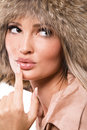 Free Beautiful Woman In Fur Hat Royalty Free Stock Images - 19584899