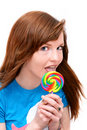 Free Lollipop Girl Stock Photos - 19587853