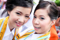 Free Two Woman Smile In Congratulations Day . Stock Image - 19589881