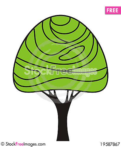 Free Simple Tree Royalty Free Stock Photography - 19587867