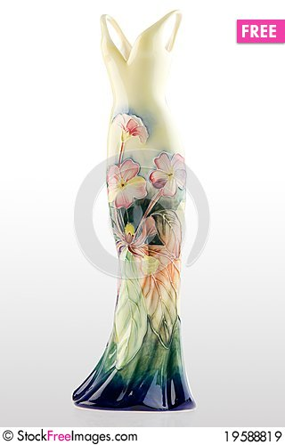 Free Gown Shaped Vase Royalty Free Stock Images - 19588819
