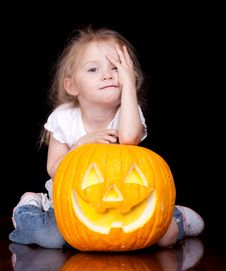 Free Sad Halloween Royalty Free Stock Image - 19580306