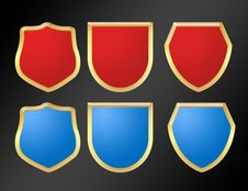 Red And Blue Symbols Royalty Free Stock Photos