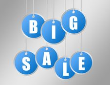 Free Big Sale Labels Stock Photo - 19580940