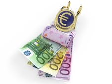 Free Euro Banknotes In Money Clip Stock Photography - 19581032