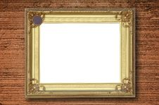 Free Gold Picture Frame Royalty Free Stock Photography - 19581107
