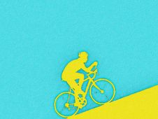 Free Cyclist Watercolor Royalty Free Stock Photography - 19581327