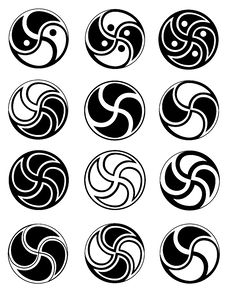Free Creative Symbols In Style Of Ying Yang Stock Photos - 19582603