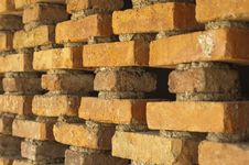 Free Orange Brick Wall Royalty Free Stock Image - 19583206