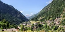 Mountain Village In The Passeiertal Stock Image