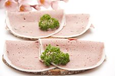 Free Liver Sausage On Bread Stock Images - 19584124