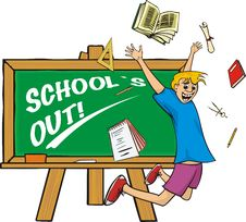 Free School`s Out - Happy Schoolboy Royalty Free Stock Images - 19584299