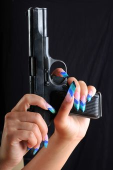Free Pistol In A Hand Royalty Free Stock Photography - 19584497
