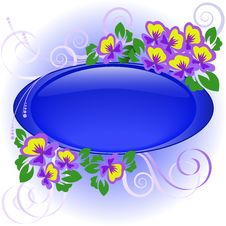 Free Frame With Violets Royalty Free Stock Photo - 19584545