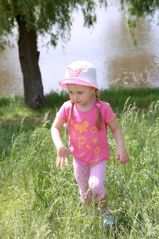 Free Sweet Little Girl In Park Stock Image - 19584681