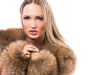 Free Gorgeous Woman In Fur Stock Photo - 19584900