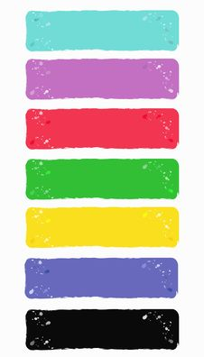 Free Colored Banners With Blots Royalty Free Stock Photography - 19585347