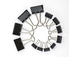 Free Binder Clips In A Twirl Stock Photos - 19585613