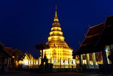 Pagoda In Thailand, Lumpoon Royalty Free Stock Image