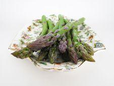 Asparagus On A Plate Stock Photos