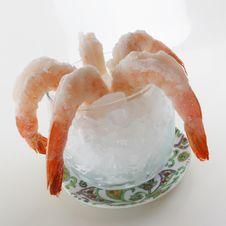Free Shrimp On Ice Royalty Free Stock Photo - 19586005