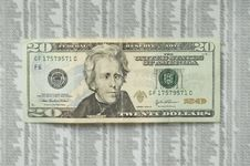 Free Crazy Twenty Dollar Bill. Royalty Free Stock Photos - 19586588