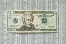 Free Crazy Twenty Dollar Bill. Royalty Free Stock Photos - 19586588