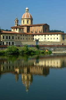 Free Florence, Bassilica And Arno River Stock Photography - 19587182