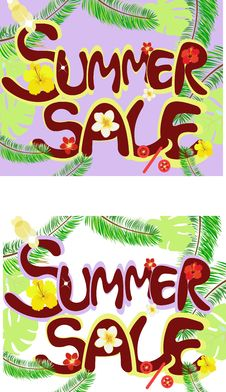 Free Summer Sale Royalty Free Stock Photo - 19587695