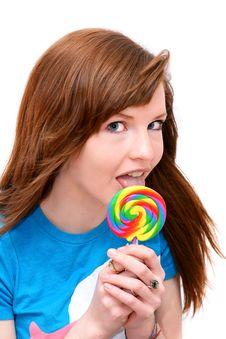 Free Lollipop Girl Stock Photos - 19587853