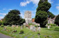 Free An English Village Church And Tower Stock Photography - 19588262