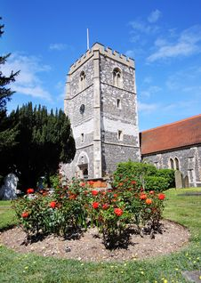 Free An English Village Church And Tower Stock Photo - 19588300