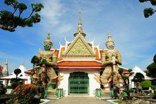 Free Wat Arun In Thailand Bangkok Royalty Free Stock Images - 19588479