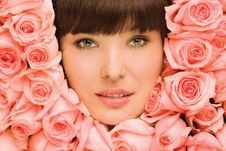 Floral Girl. Royalty Free Stock Photo