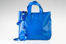 Free Blue Bag And Necklace Stock Images - 19588824