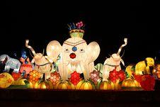 Elephant Lantern Stock Image