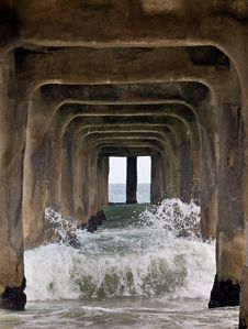 Free Under The Pier Royalty Free Stock Photography - 19588907
