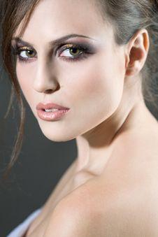 Face Of A Sexy Girl Stock Image