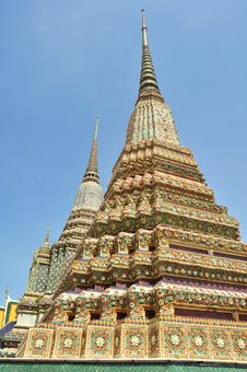 Free Ancient Pagoda Or Chedi At Wat Pho Stock Photos - 19589353